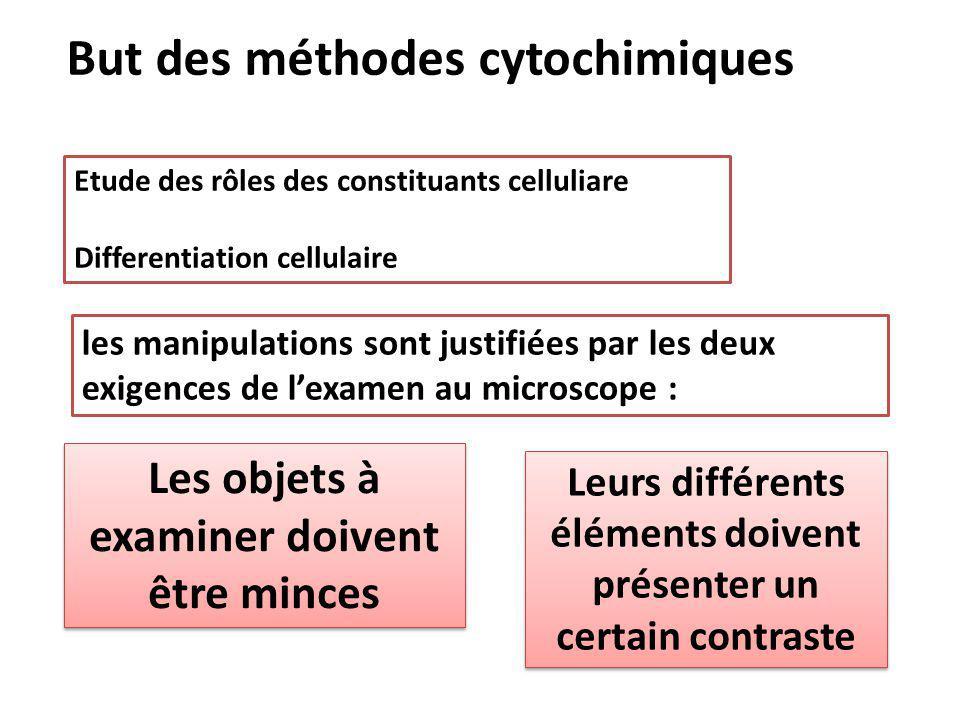 But des méthodes cytochimiques
