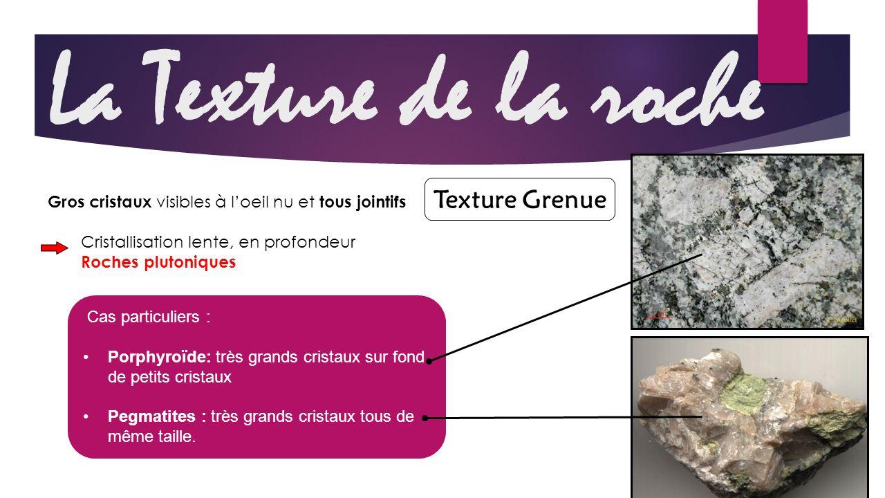 La Texture de la roche Texture Grenue