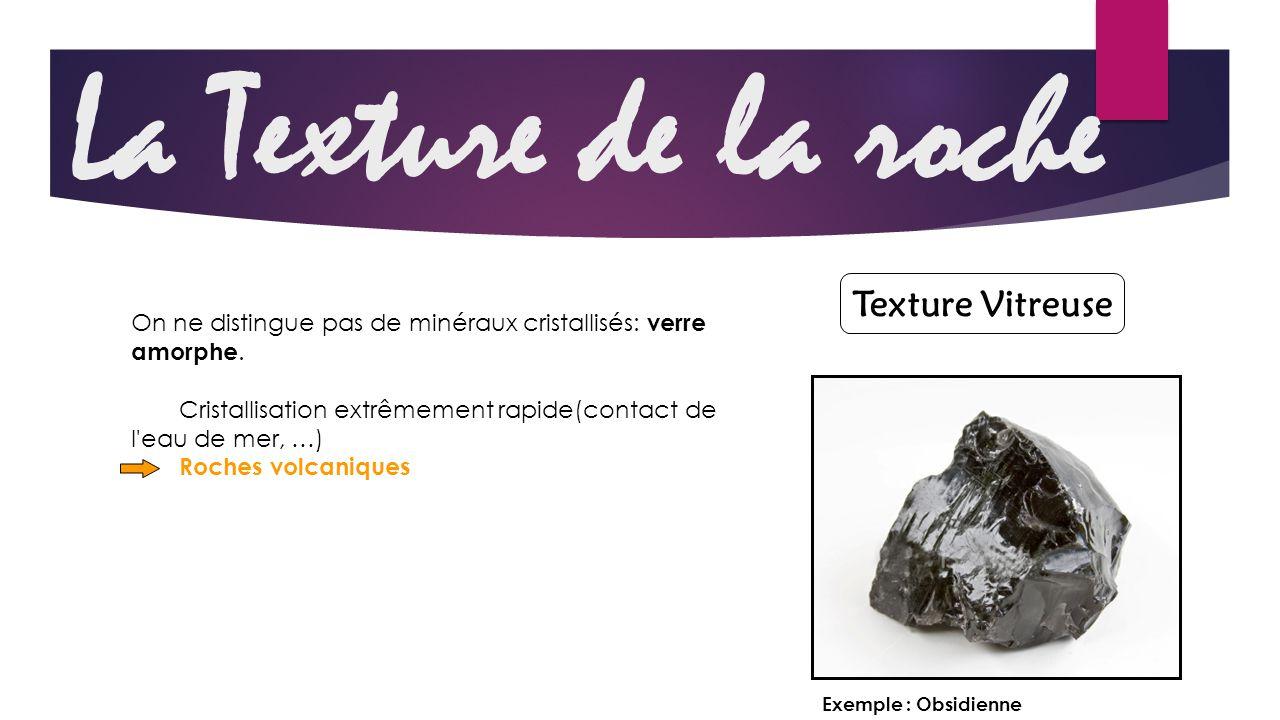 La Texture de la roche Texture Vitreuse