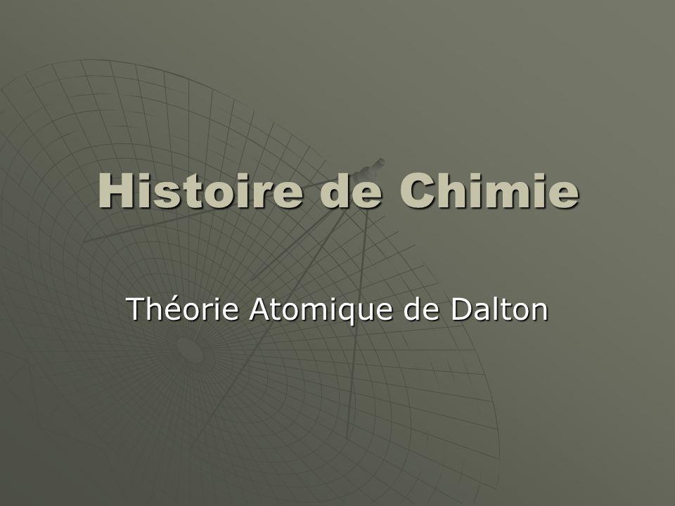 Théorie Atomique de Dalton