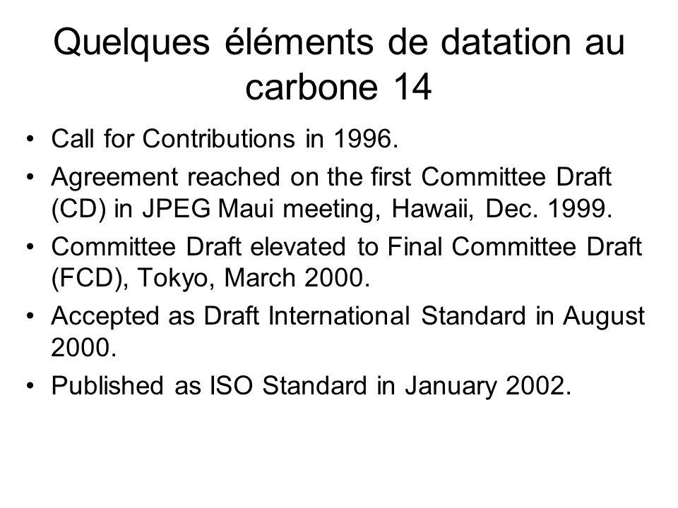 Quelques éléments de datation au carbone 14
