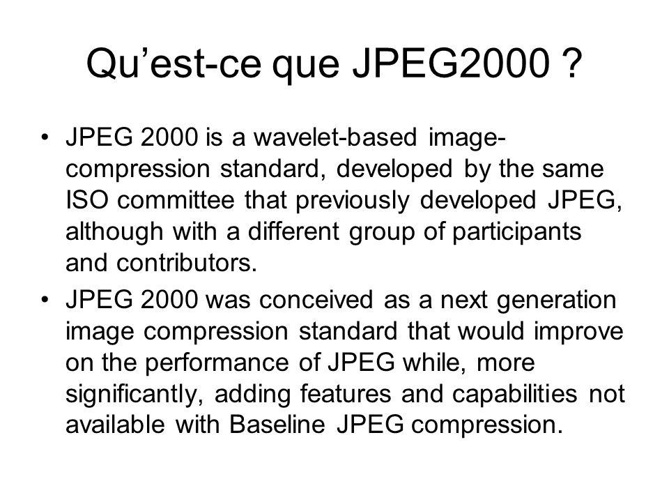 Qu'est-ce que JPEG2000
