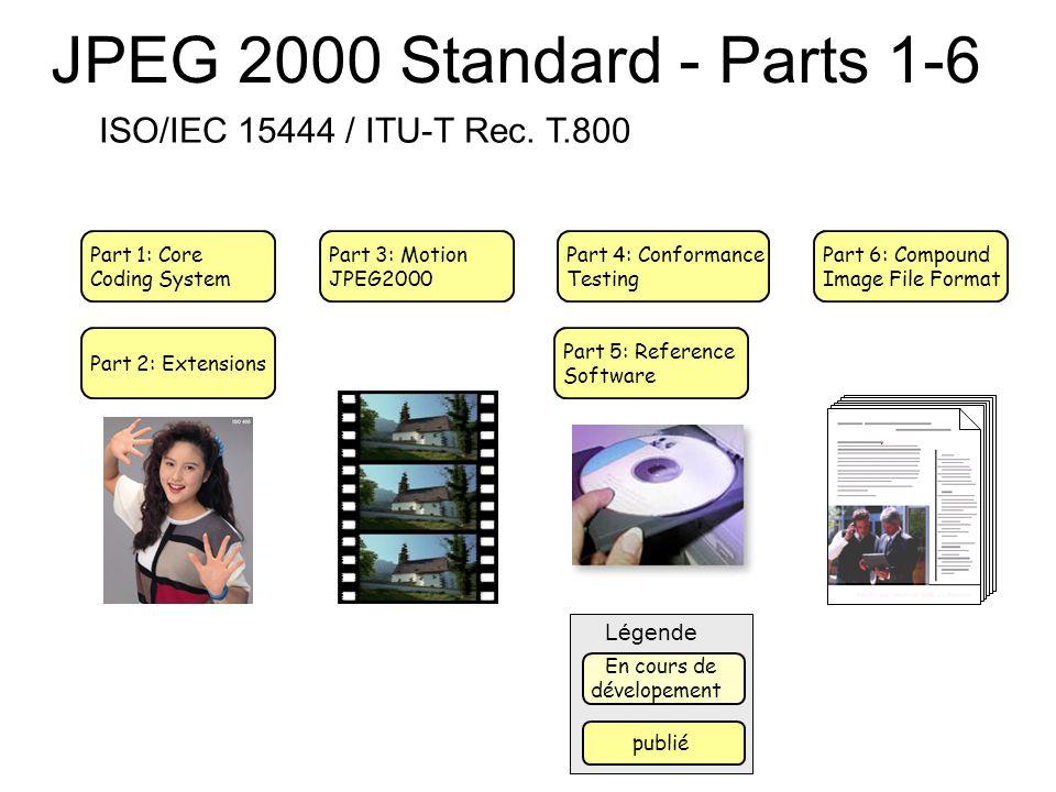JPEG 2000 Standard - Parts 1-6 ISO/IEC 15444 / ITU-T Rec. T.800