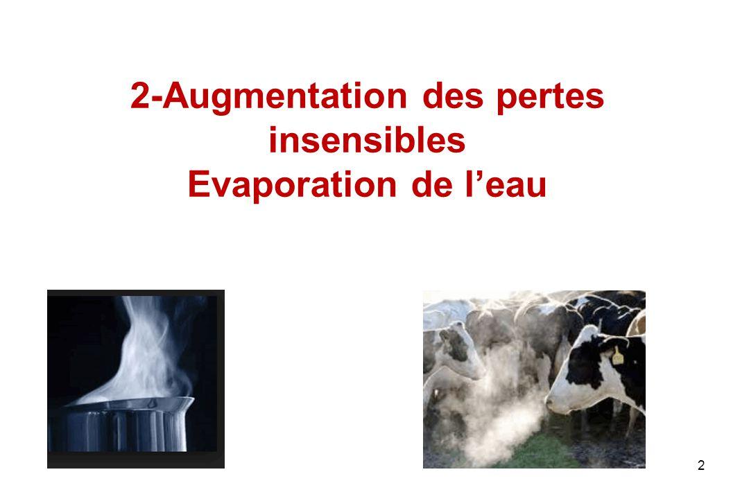 2-Augmentation des pertes insensibles Evaporation de l'eau