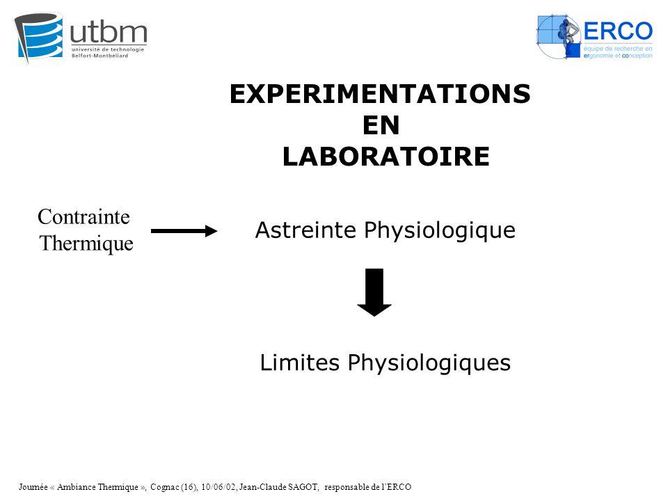 EXPERIMENTATIONS EN LABORATOIRE