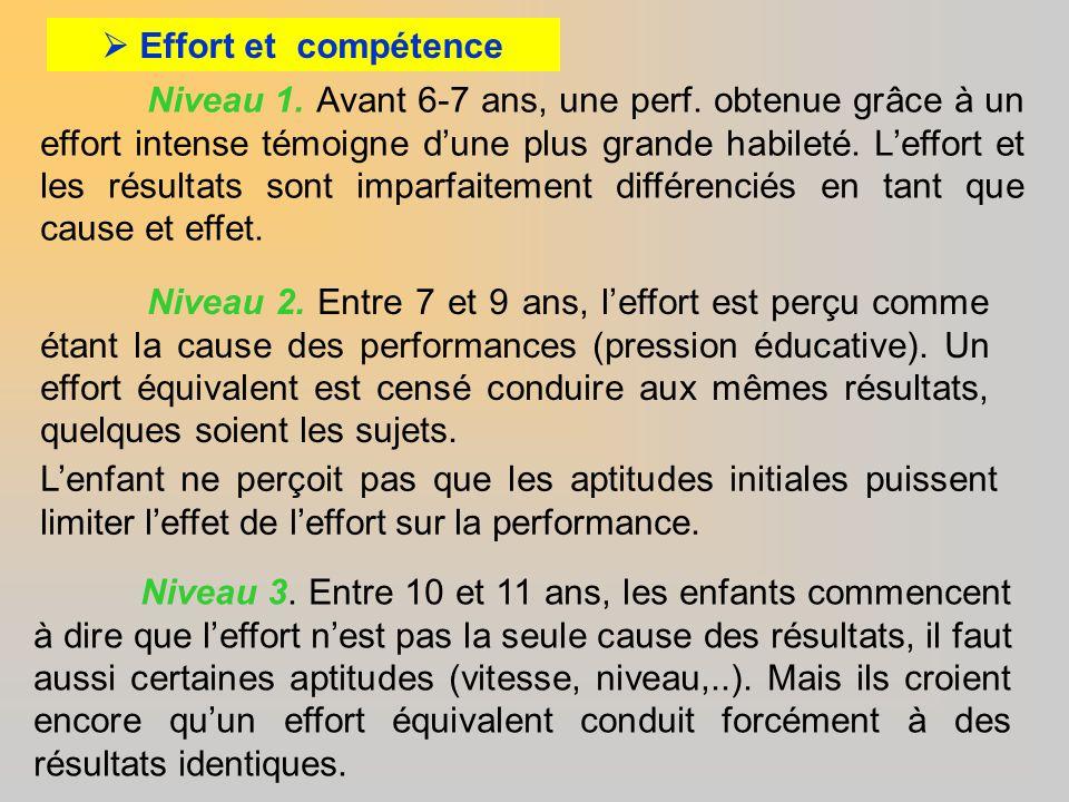  Effort et compétence