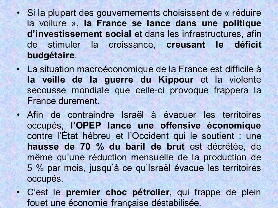 Si la plupart des gouvernements choisissent de « réduire la voilure », la France se lance dans une politique d'investissement social et dans les infrastructures, afin de stimuler la croissance, creusant le déficit budgétaire.