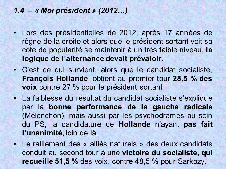 1.4 – « Moi président » (2012…)