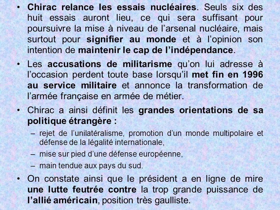 Chirac relance les essais nucléaires