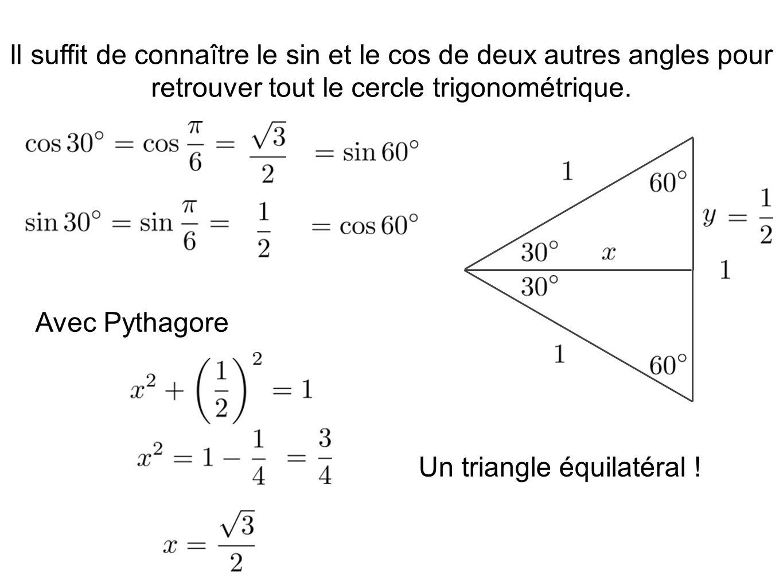 Un triangle équilatéral !