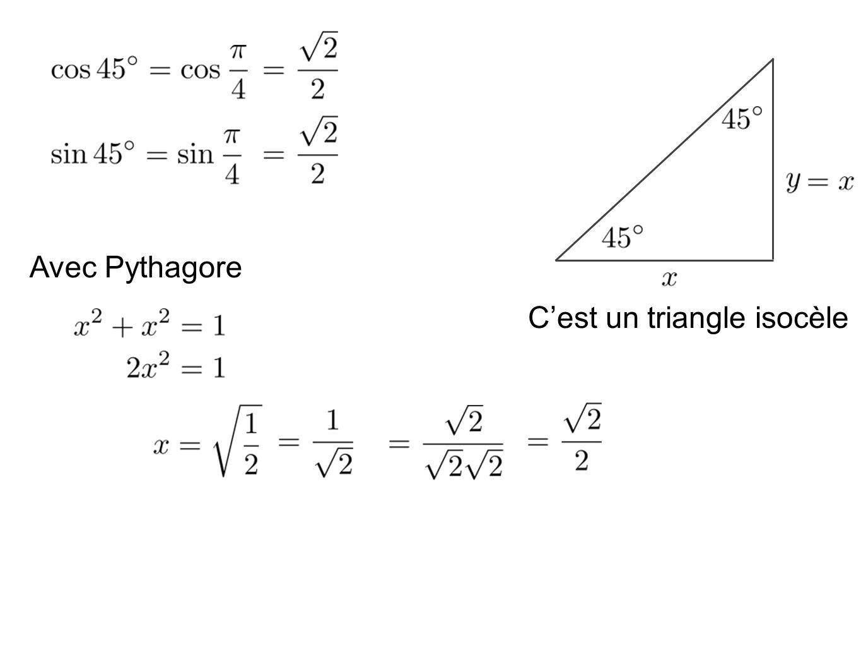 C'est un triangle isocèle