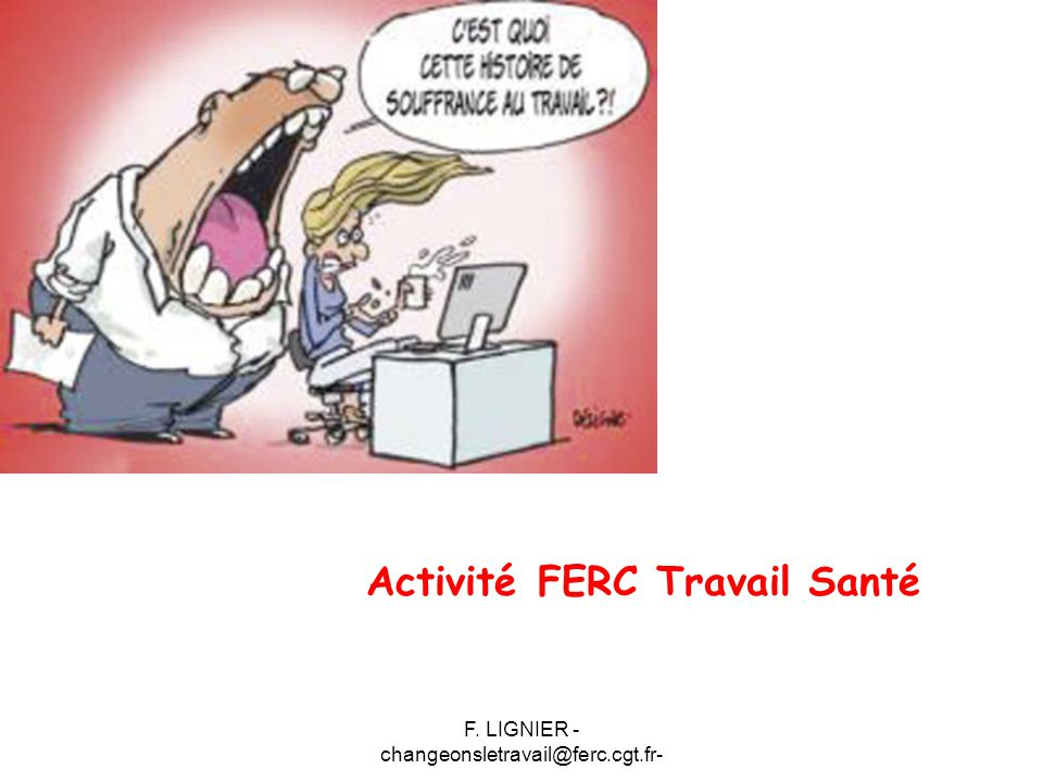 Activité FERC Travail Santé