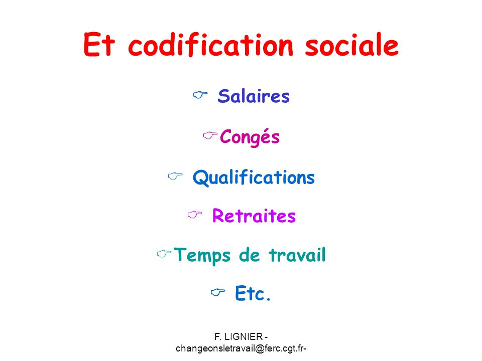 Et codification sociale