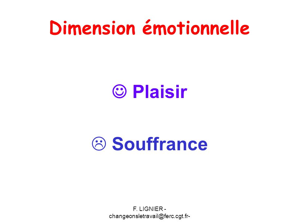 Dimension émotionnelle