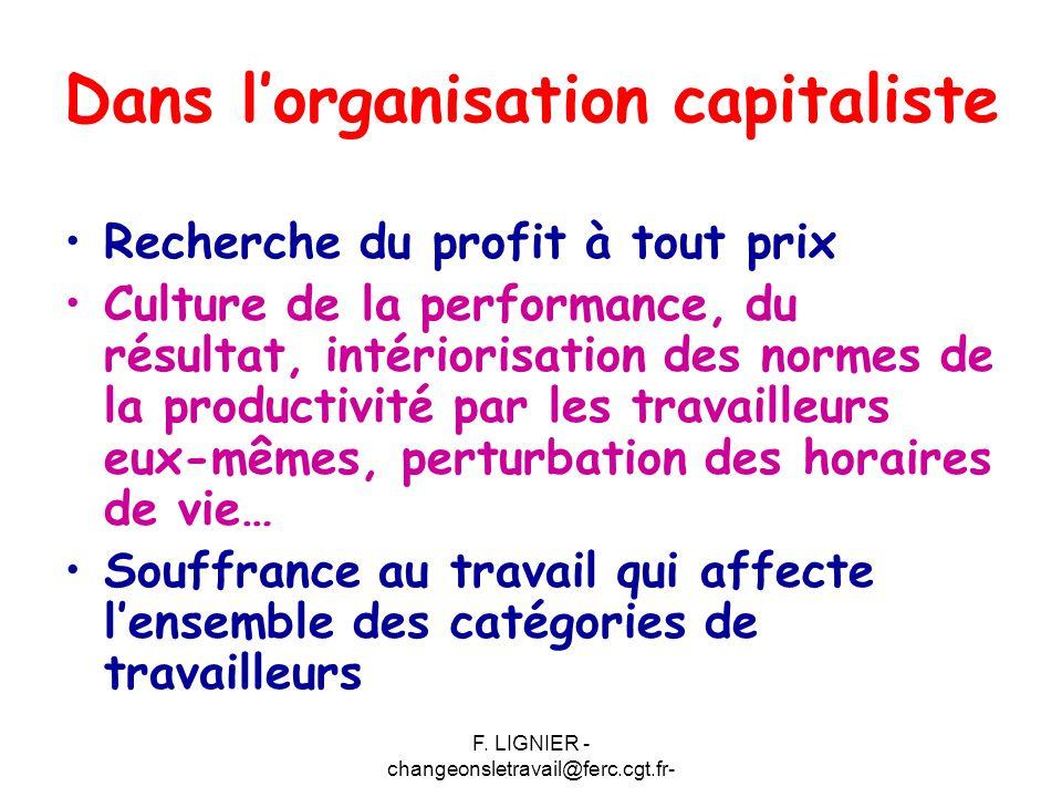 Dans l'organisation capitaliste