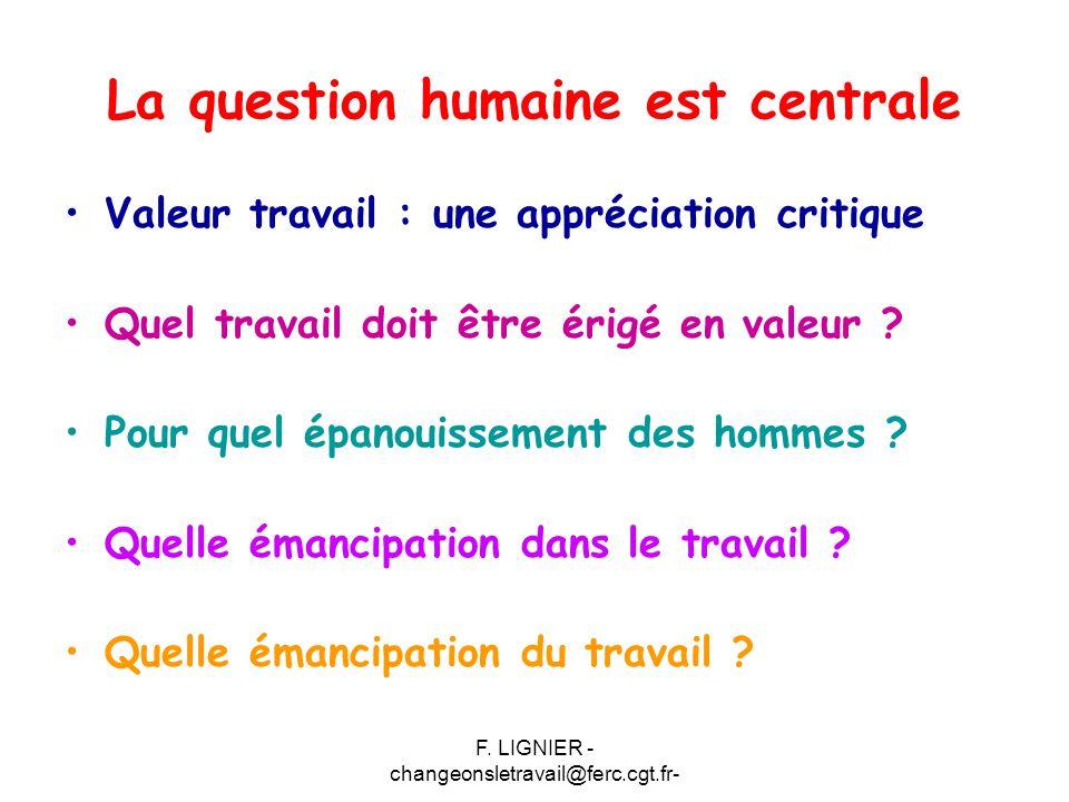 La question humaine est centrale