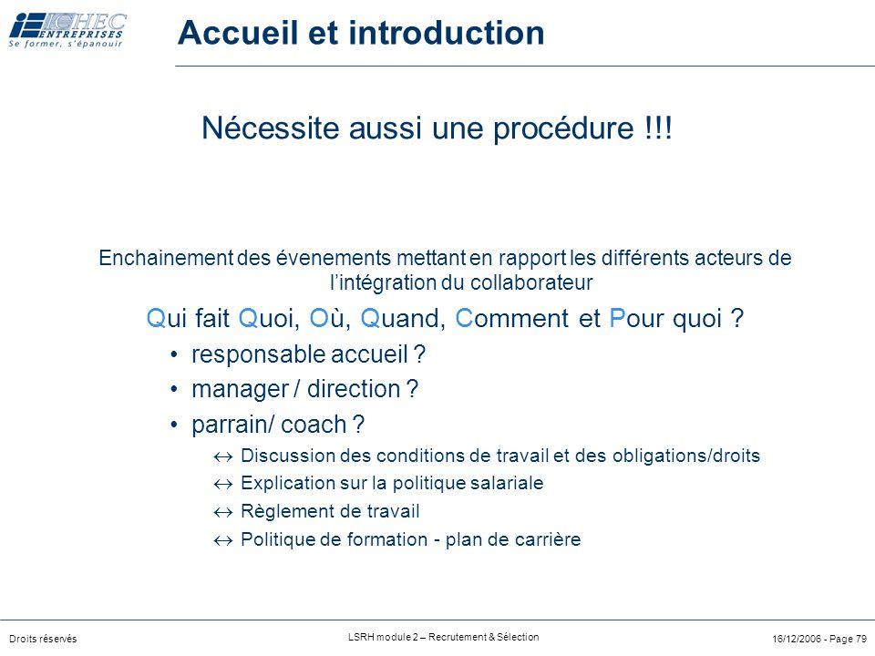 Accueil et introduction