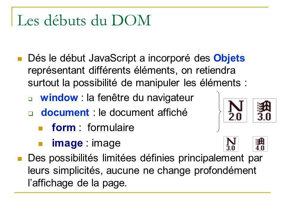 Les débuts du DOM form : formulaire image : image