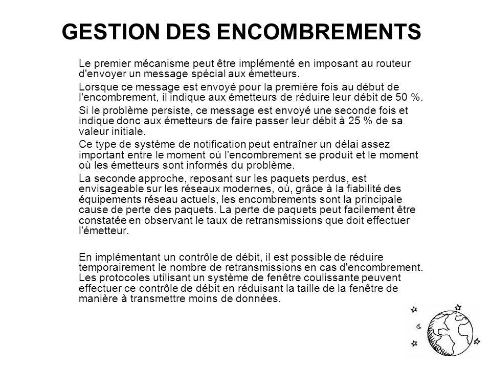 GESTION DES ENCOMBREMENTS