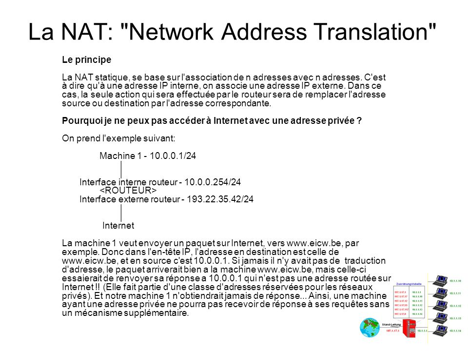 La NAT: Network Address Translation