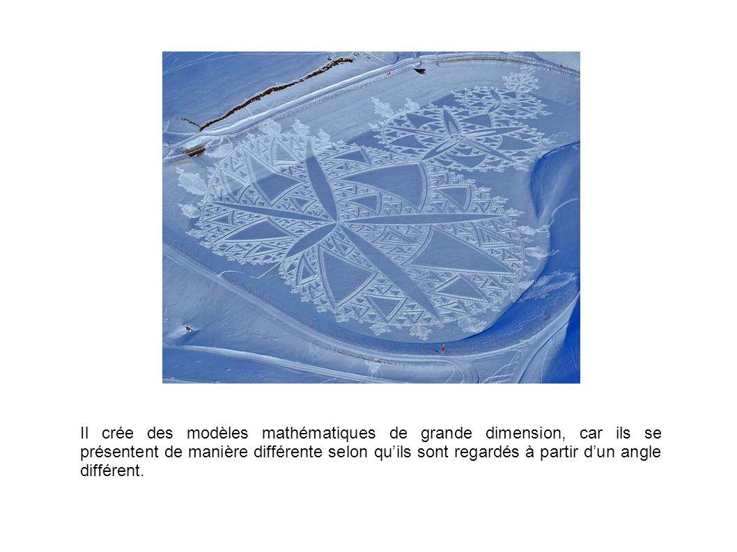 Il crée des modèles mathématiques de grande dimension, car ils se présentent de manière différente selon qu'ils sont regardés à partir d'un angle différent.