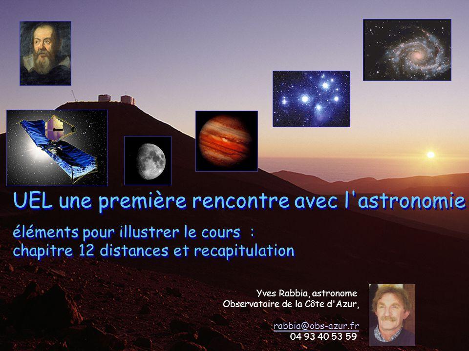 UEL une première rencontre avec l astronomie éléments pour illustrer le cours : chapitre 12 distances et recapitulation