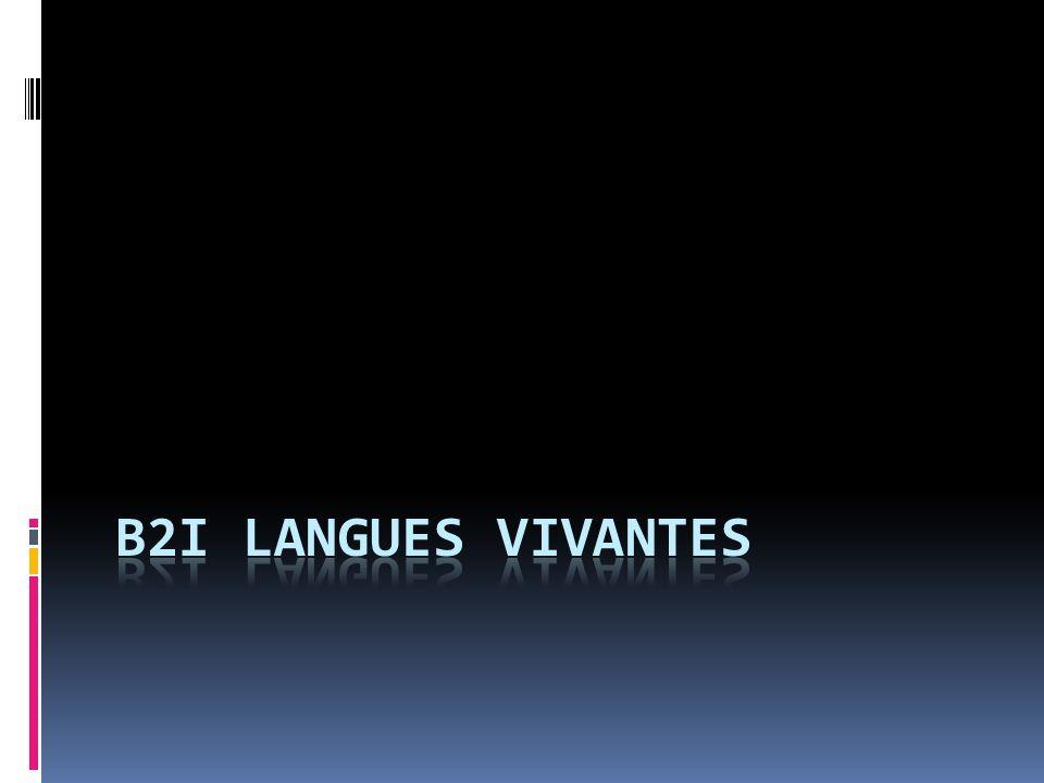 B2i Langues Vivantes
