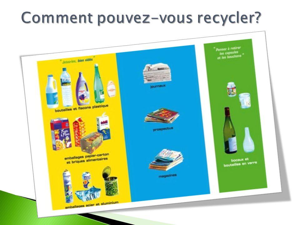 Comment pouvez-vous recycler