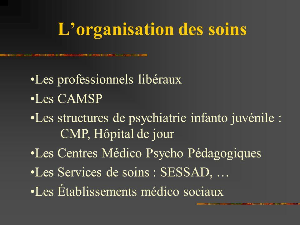 L'organisation des soins