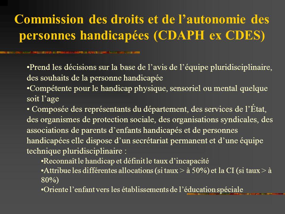 Commission des droits et de l'autonomie des personnes handicapées (CDAPH ex CDES)