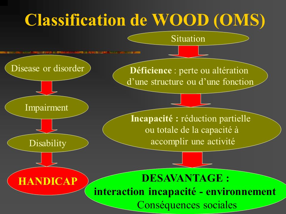 Classification de WOOD (OMS)