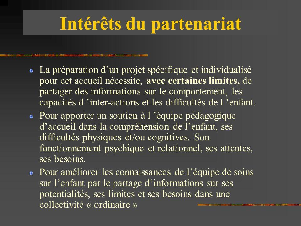 Intérêts du partenariat