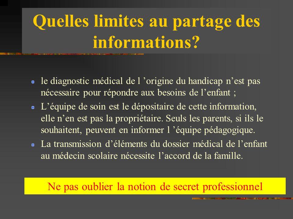 Quelles limites au partage des informations