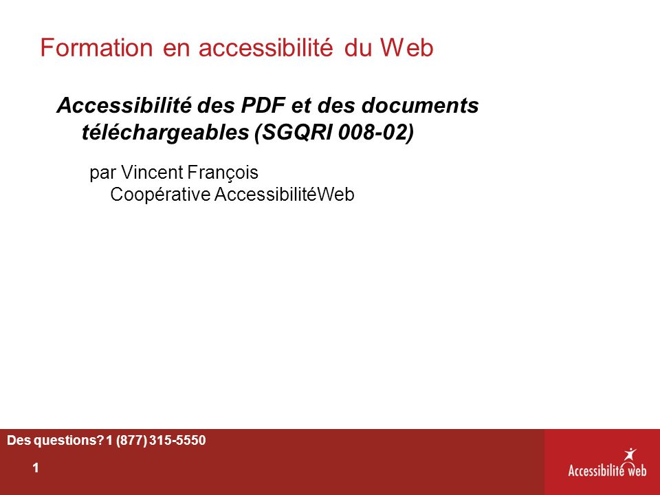 Formation en accessibilité du Web
