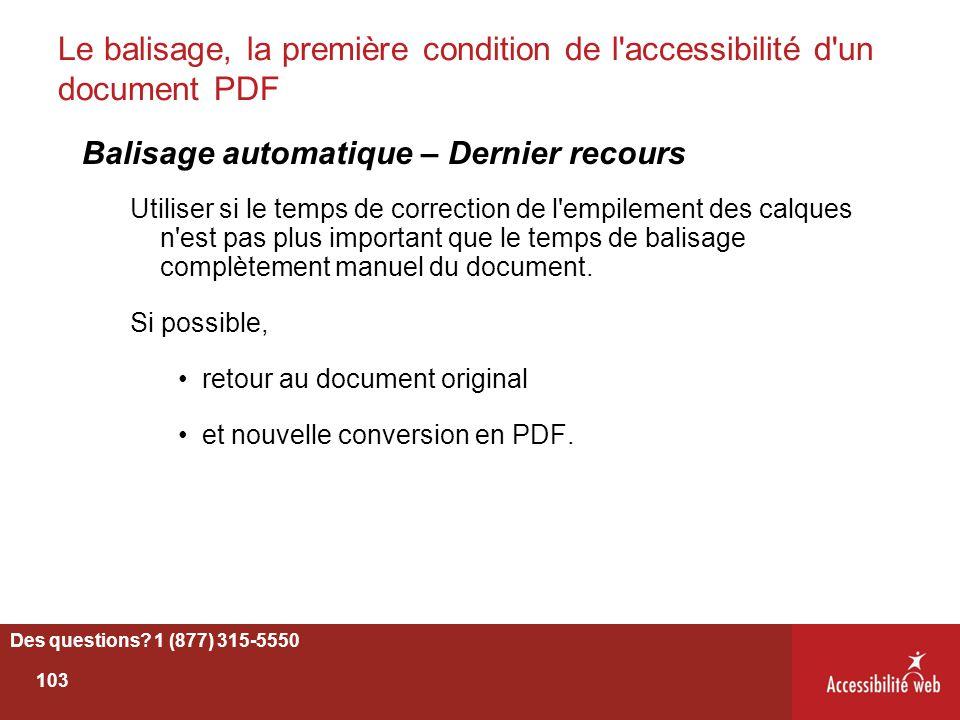 Le balisage, la première condition de l accessibilité d un document PDF