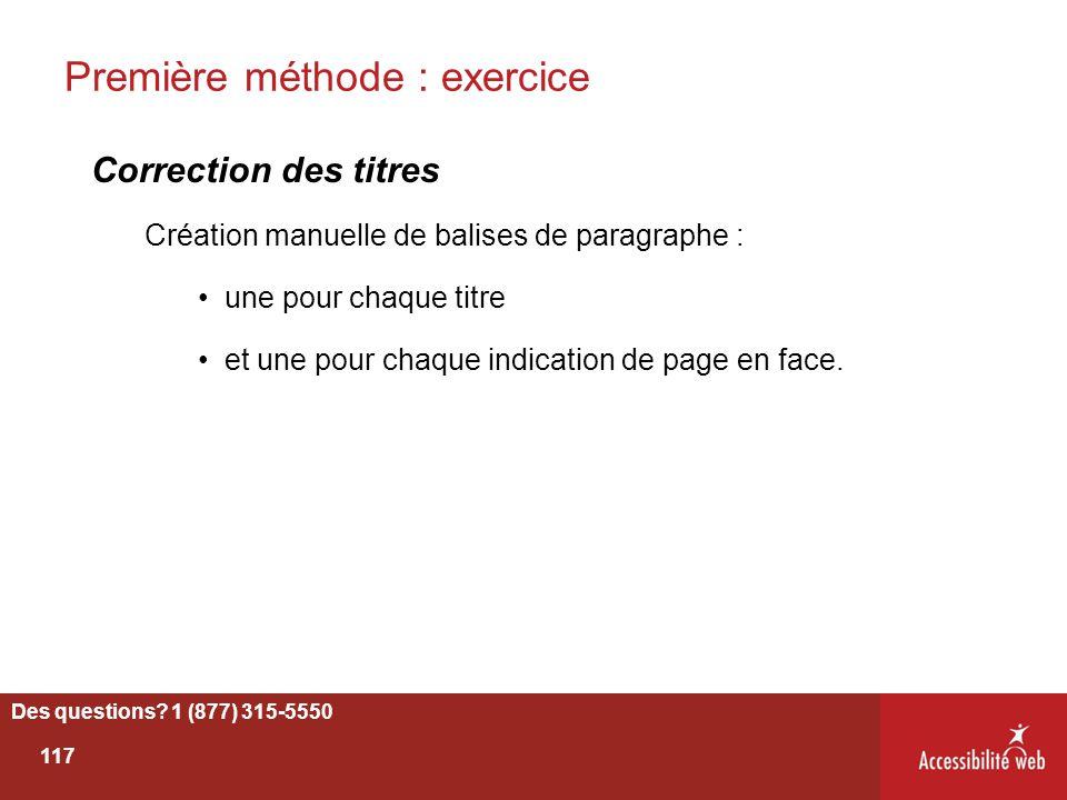 Première méthode : exercice