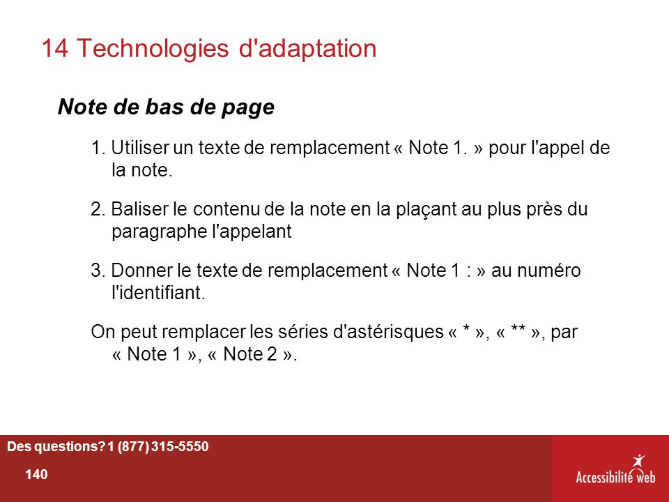 14 Technologies d adaptation