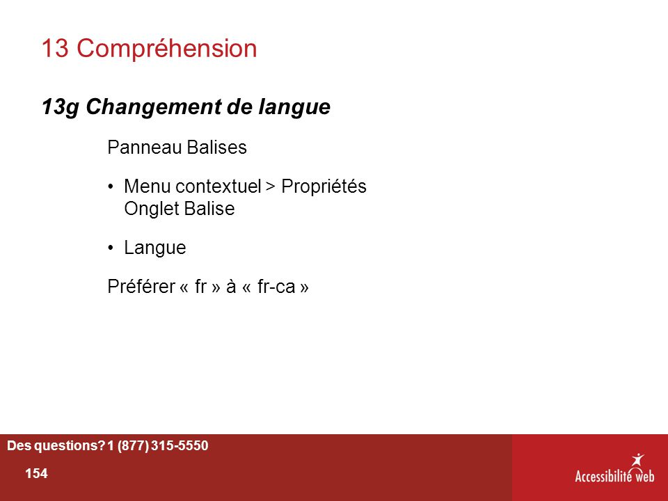 13 Compréhension 13g Changement de langue Panneau Balises