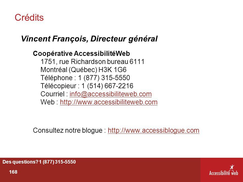 Crédits Vincent François, Directeur général