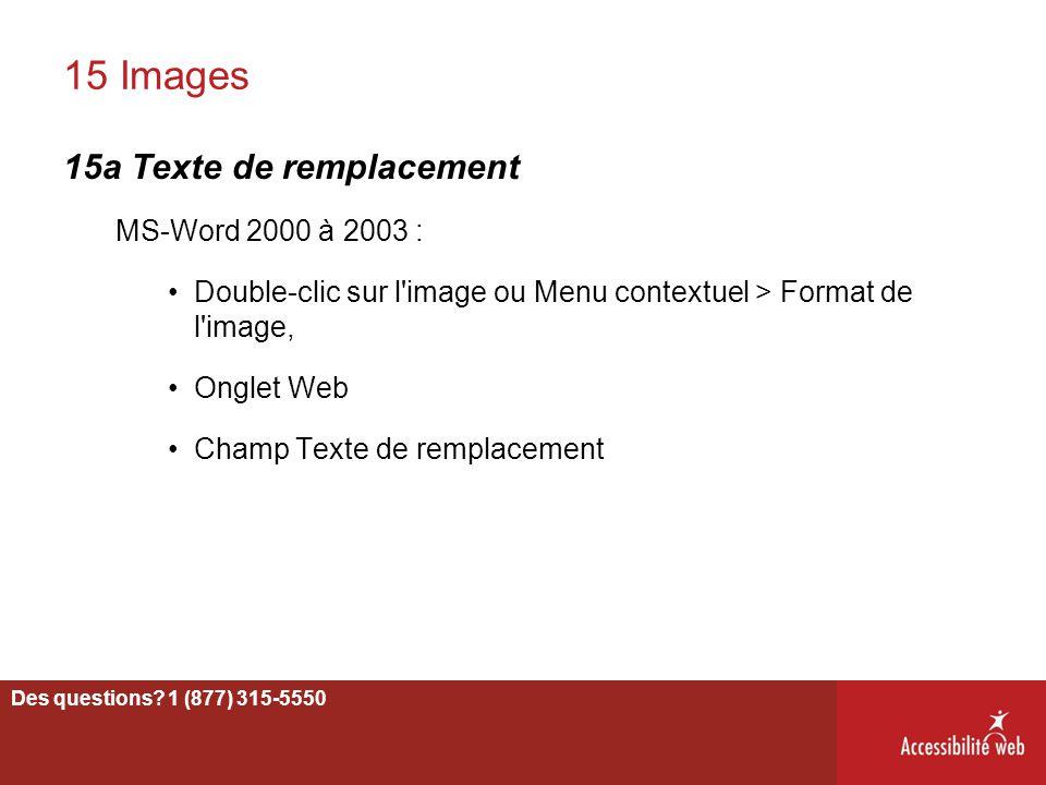 15 Images 15a Texte de remplacement MS-Word 2000 à 2003 :