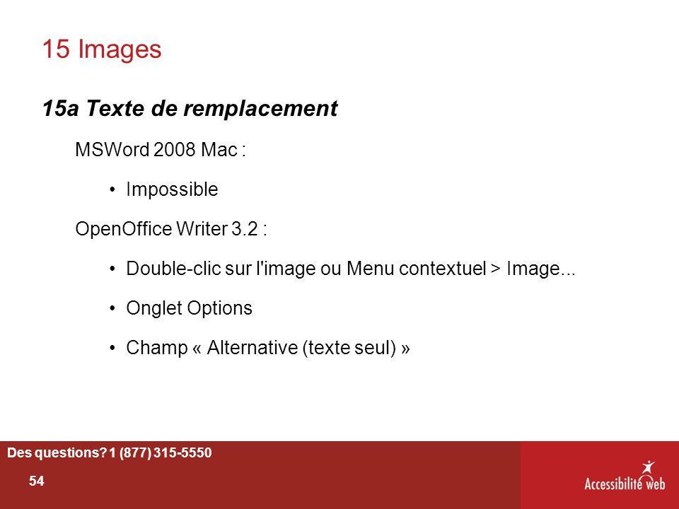 15 Images 15a Texte de remplacement MSWord 2008 Mac : Impossible
