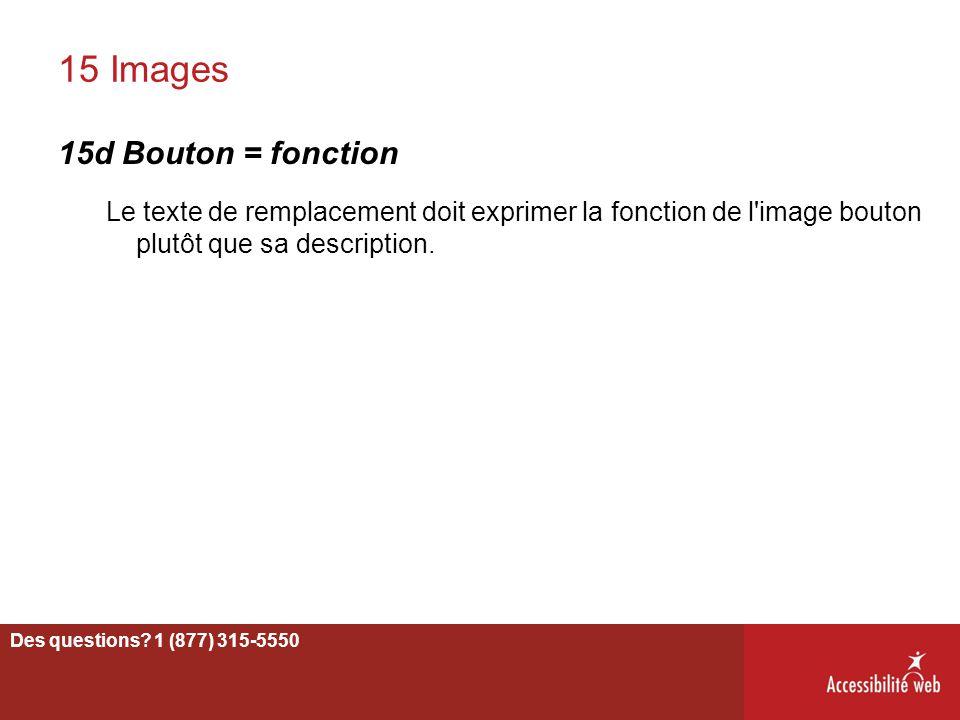 15 Images 15d Bouton = fonction
