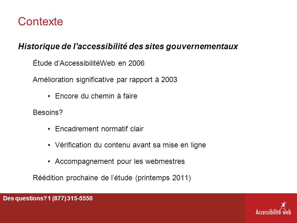 Contexte Historique de l accessibilité des sites gouvernementaux