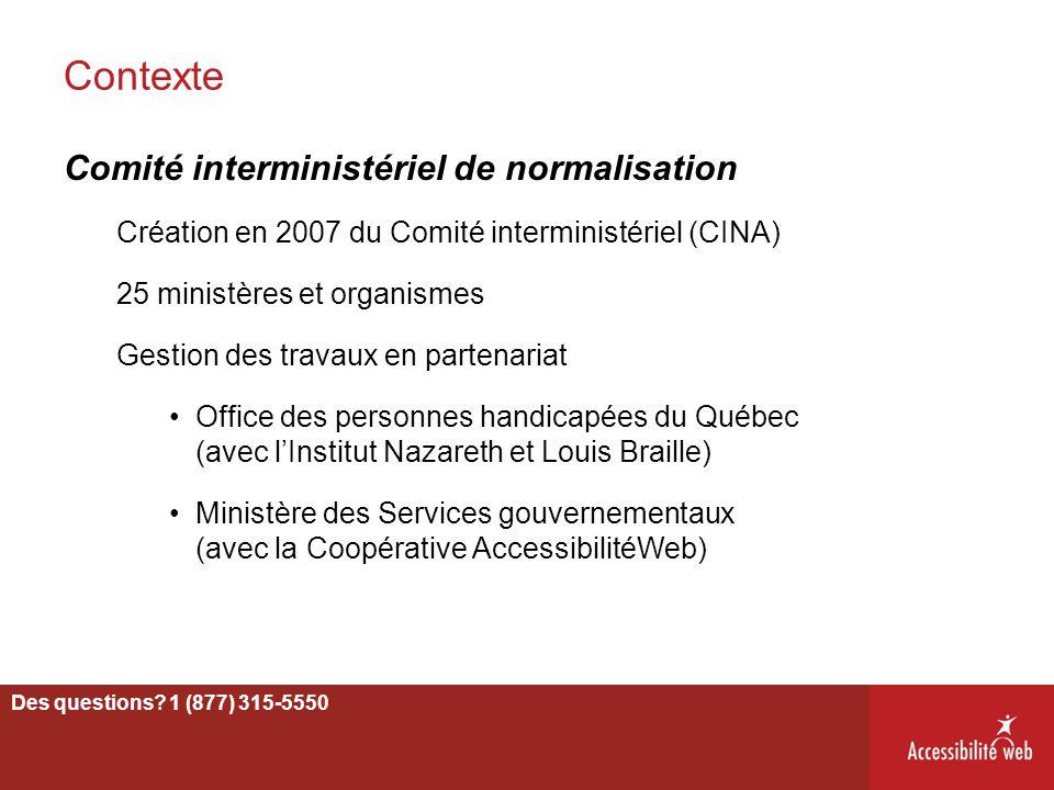 Contexte Comité interministériel de normalisation