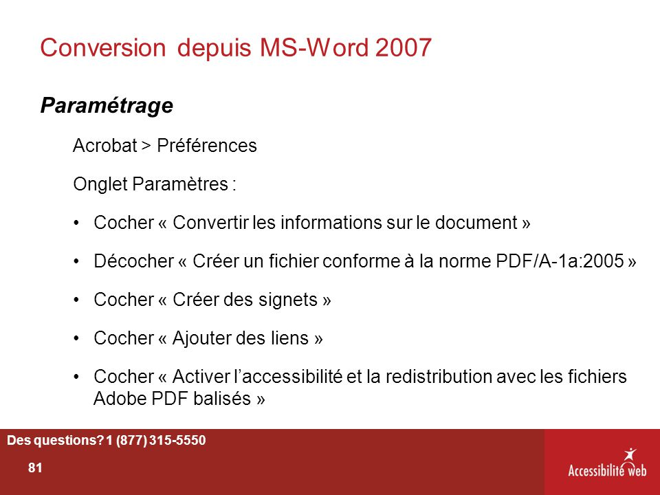 Conversion depuis MS-Word 2007