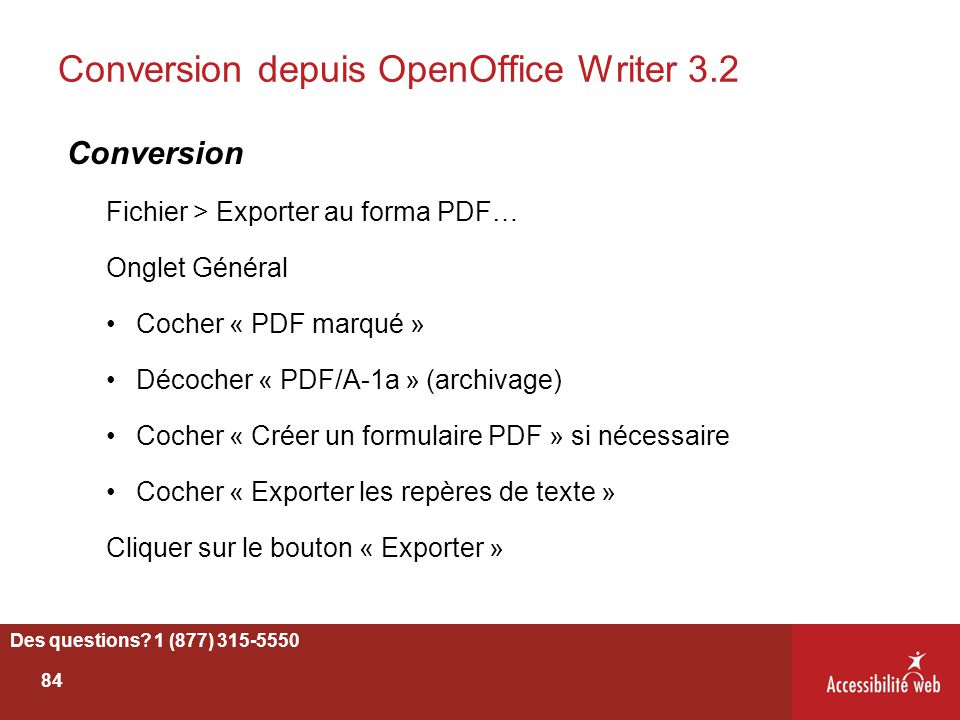 Conversion depuis OpenOffice Writer 3.2