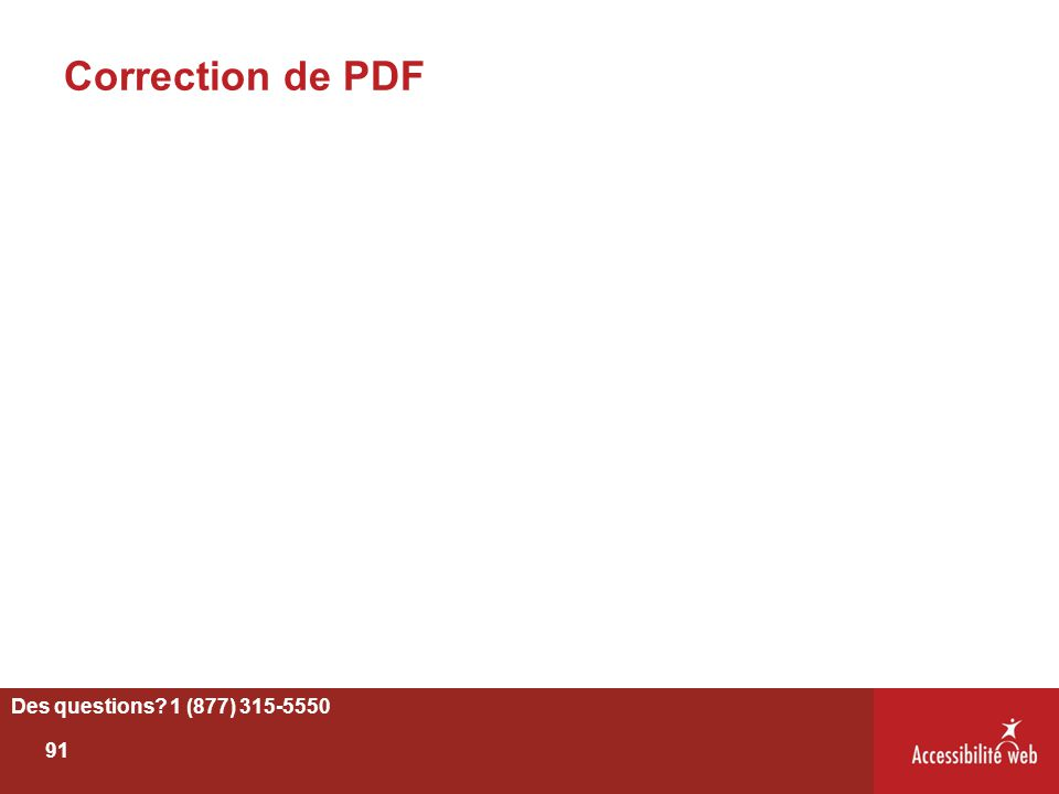 Correction de PDF Des questions 1 (877) 315-5550