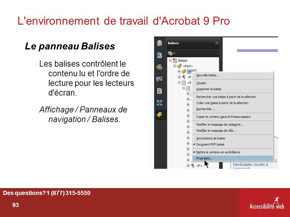 L environnement de travail d Acrobat 9 Pro