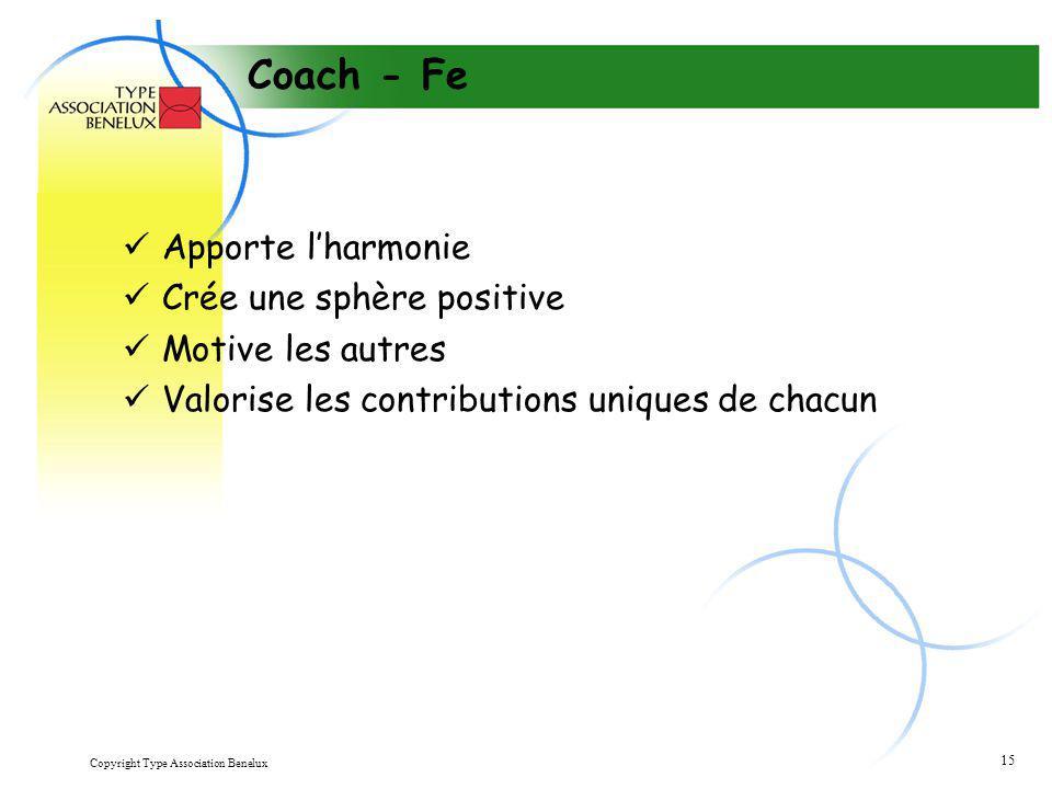 Coach - Fe Apporte l'harmonie Crée une sphère positive