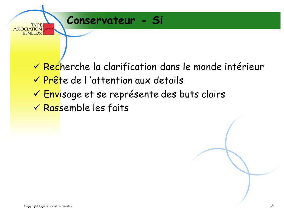 Conservateur - Si Recherche la clarification dans le monde intérieur